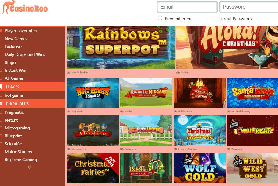 casinoroo games