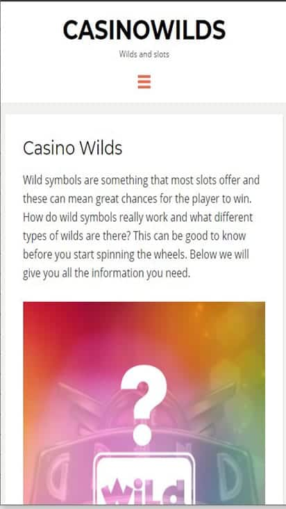 casinowilds home mobile