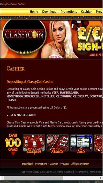 classycoincasino game mobile
