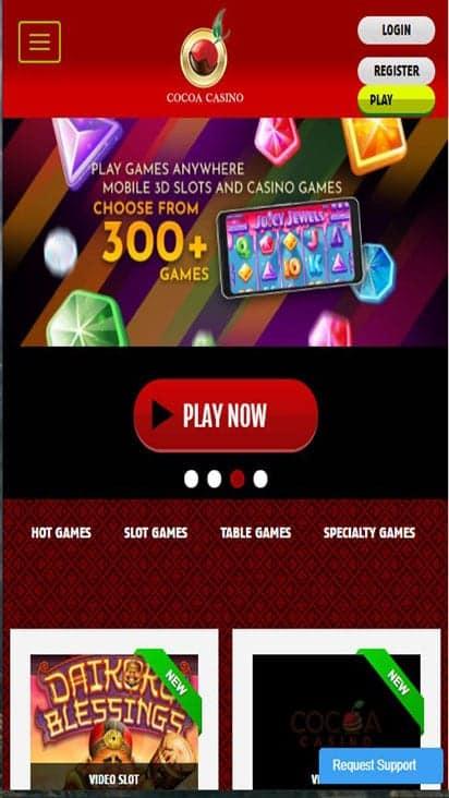 cocoa casino home mobile
