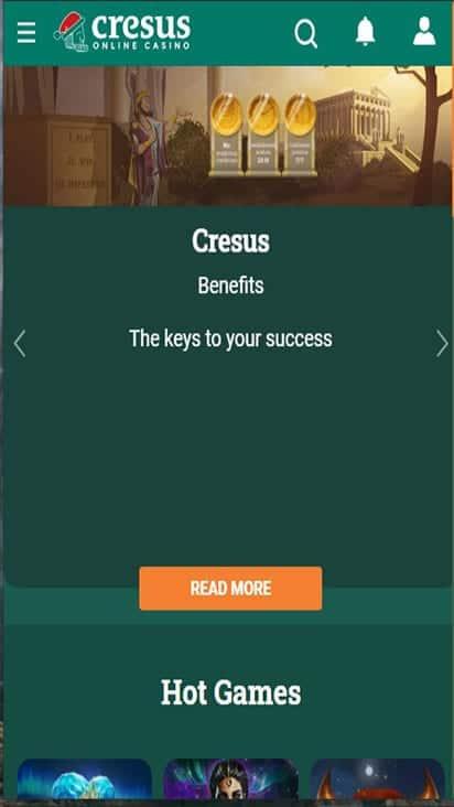 cresus casino home mobile
