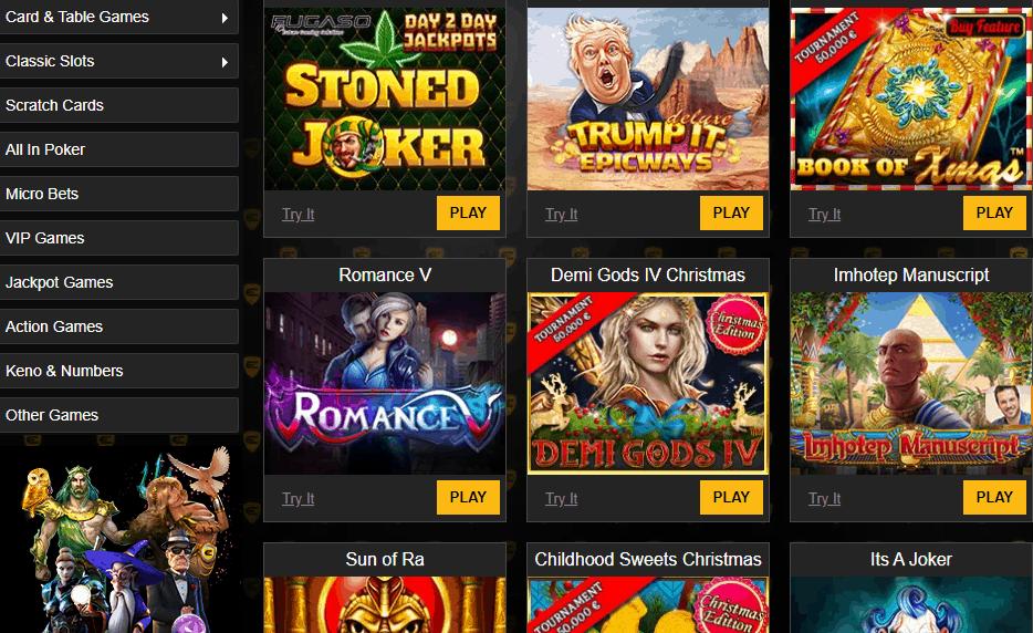 enzo casino promo games