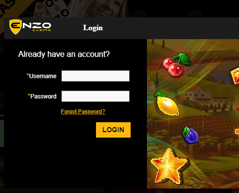 enzo casino promo login