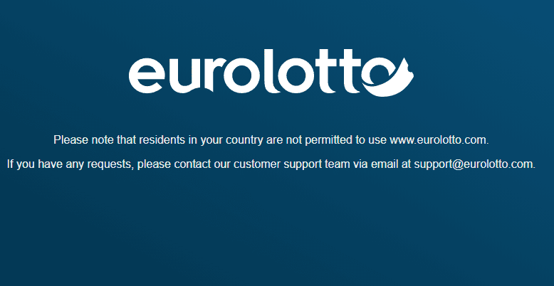 euro lotto home restriction NA