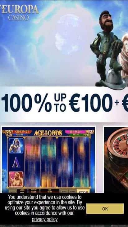 europa casino home mobile