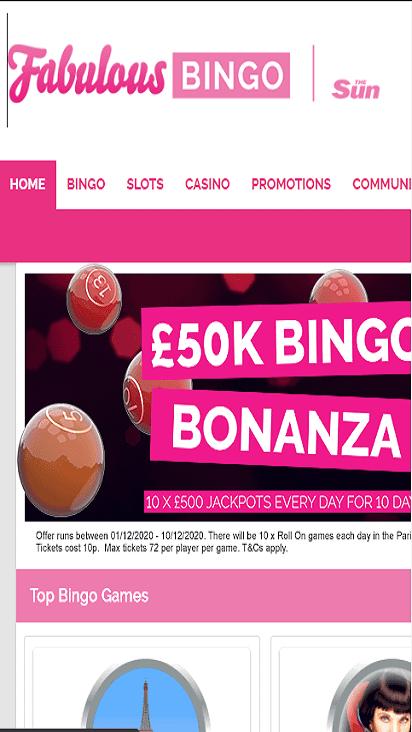 fabulous bingo home mbile