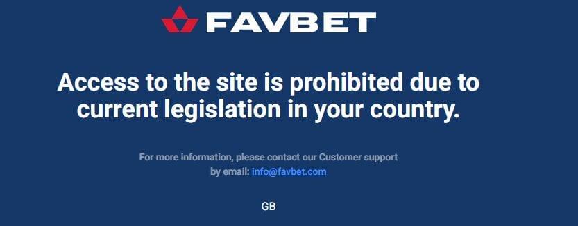 favbet home RESTRICTION NA