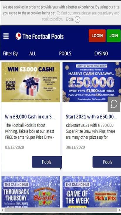 football pools promo mobile 1