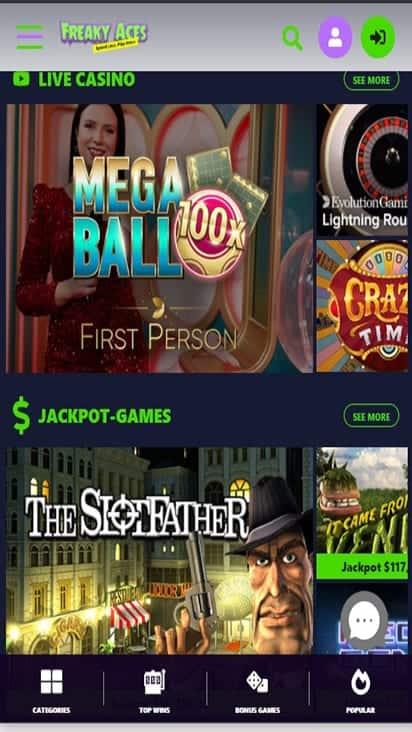 freakyaces game mobile