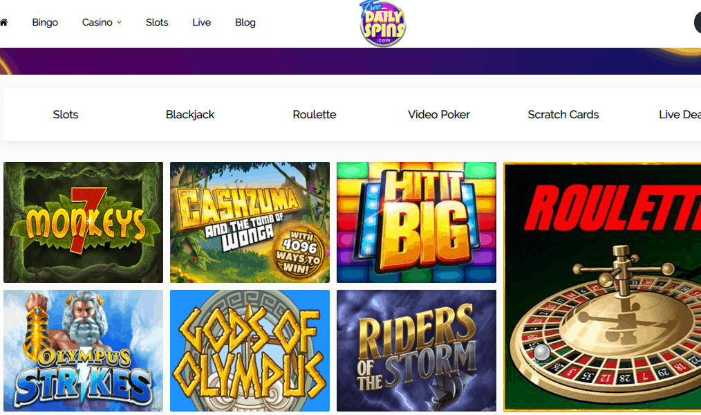 free daily spins games