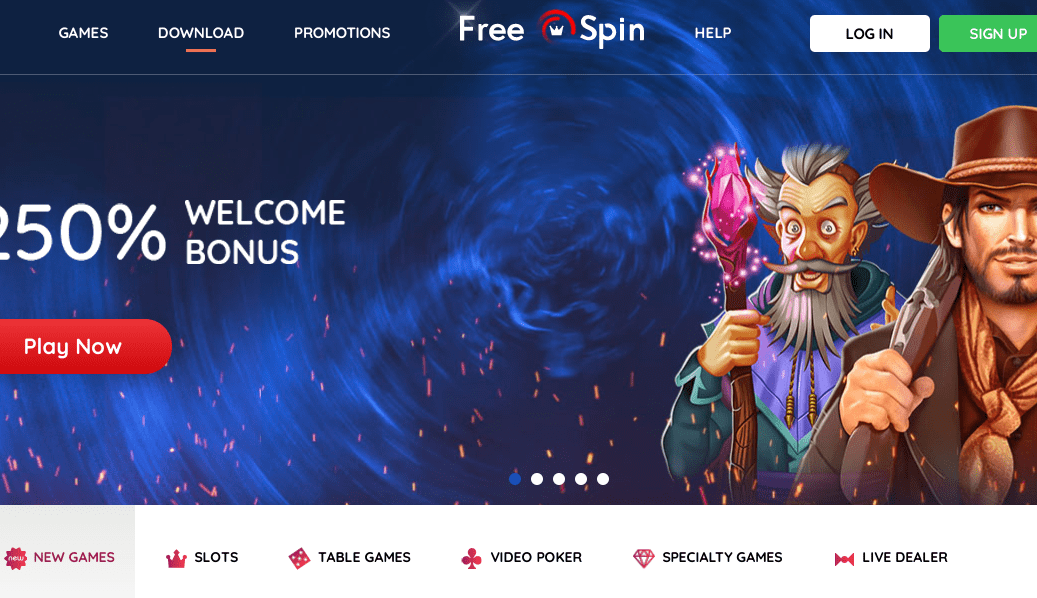 free spin new home
