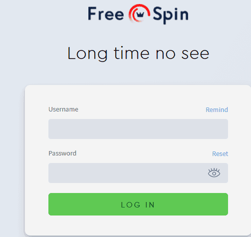 free spin new login