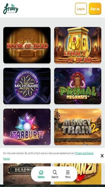fruity casa game mobile 1