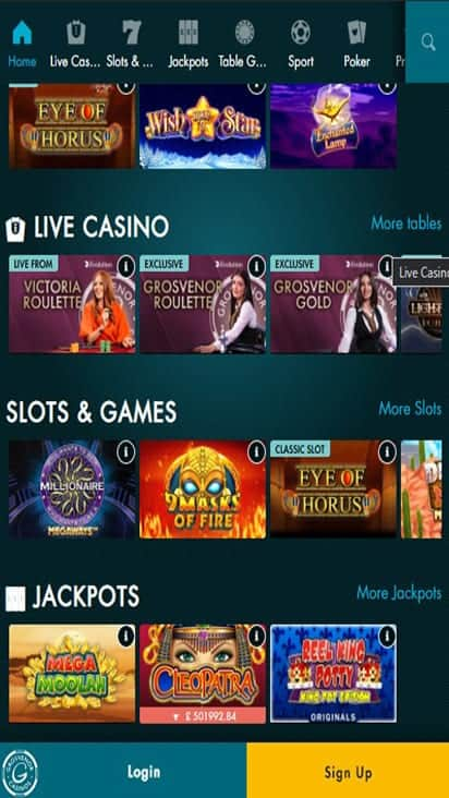 g casino game moible