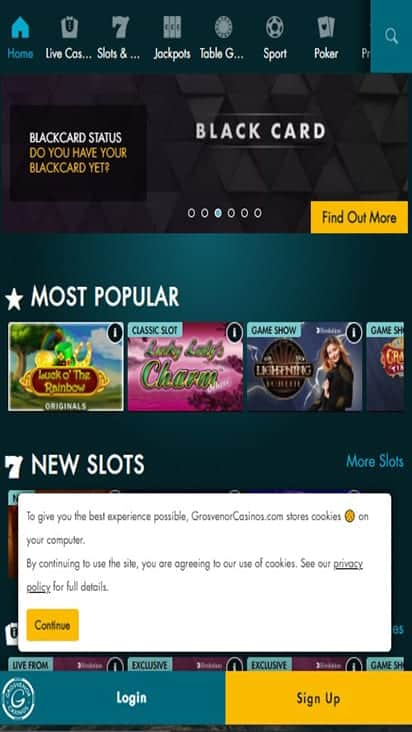 g casino home mobile