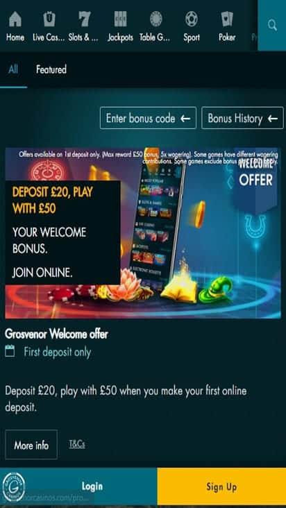g casino promo mobile