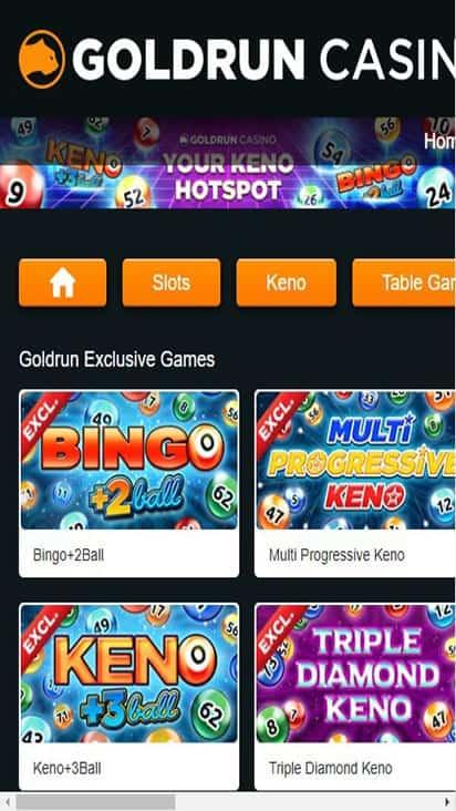goldrun casino home mobile