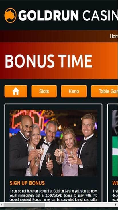 goldrun casino promo mobile
