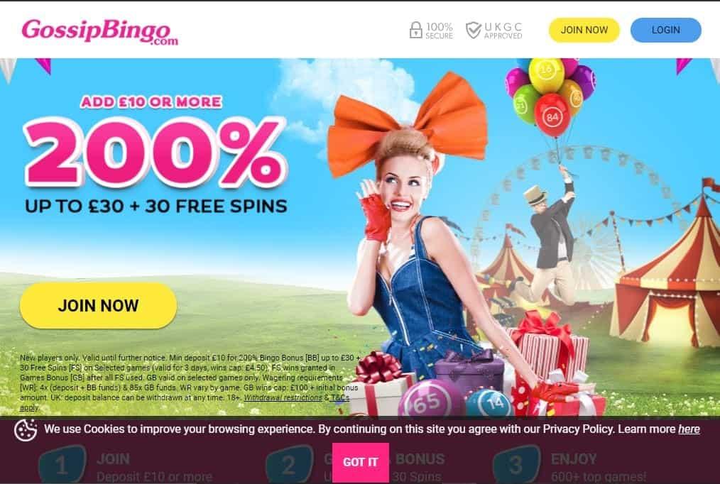 gossip bingo homepage