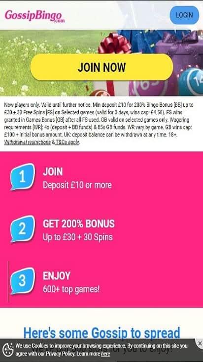 gossip bingo pomo mobile
