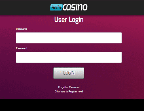 Dream Vegas login page