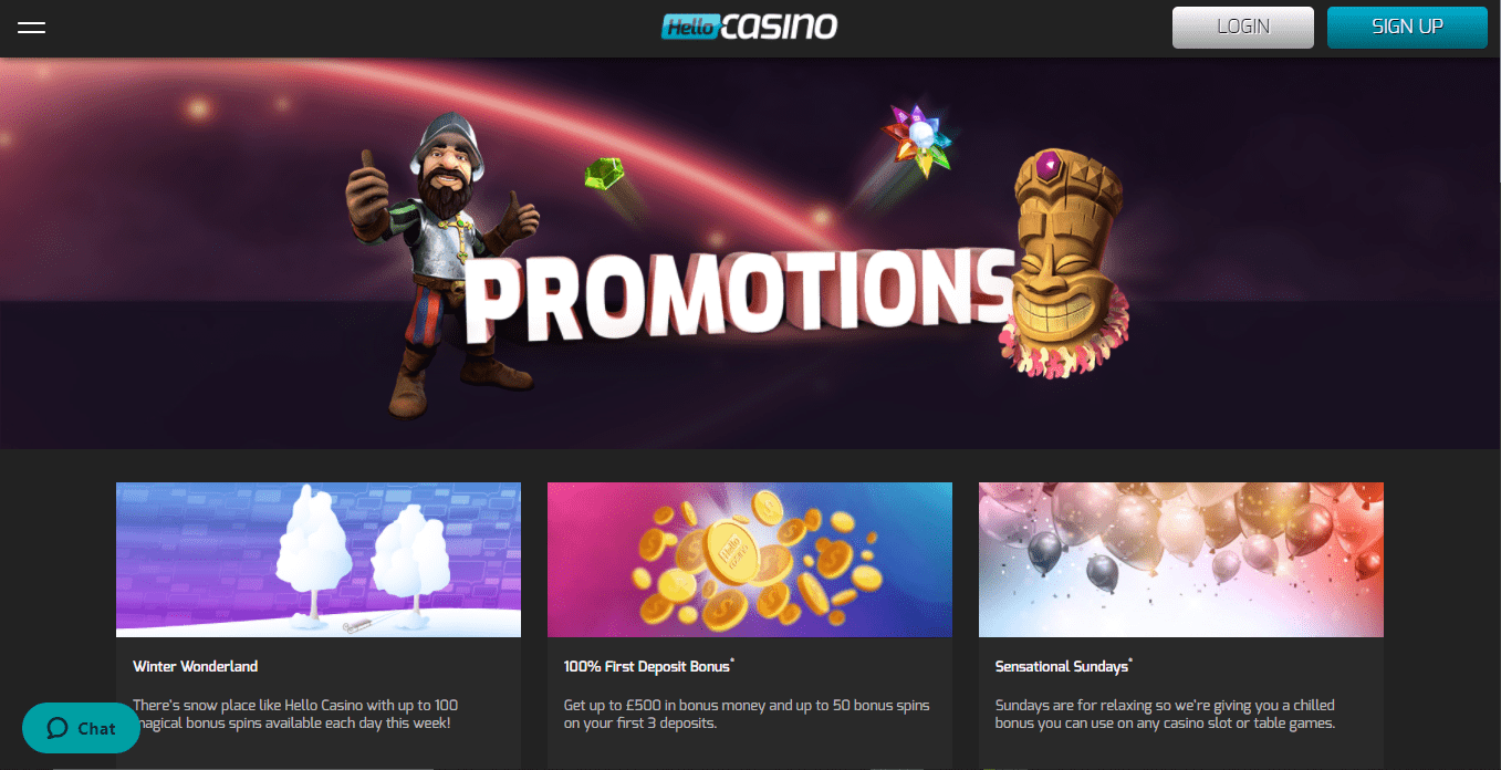 Dream Vegas promotions page