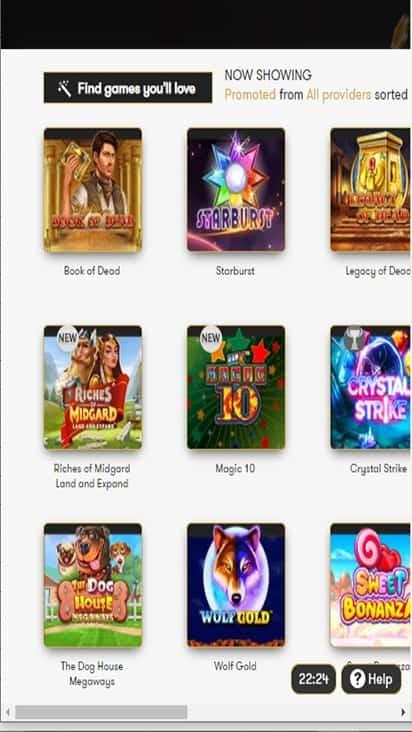 intercasino game mobile
