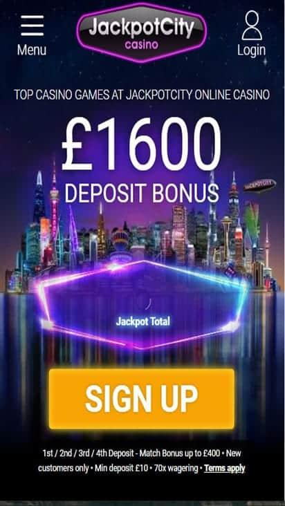 jackpot city casino home mobile