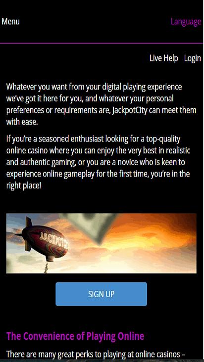 jackpot city game mobile