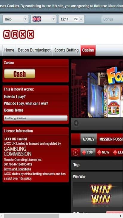 jax x game mobile