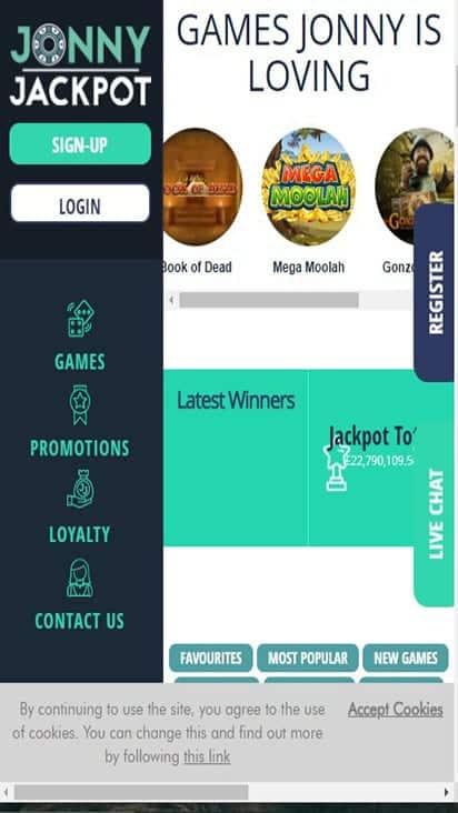 jonny jackpot game mobile