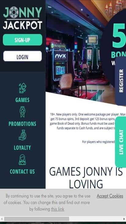 jonny jackpot home mobile