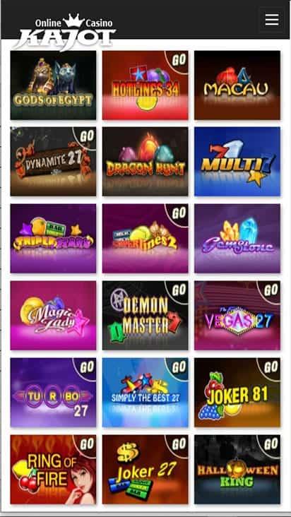 kajot casino game mobile