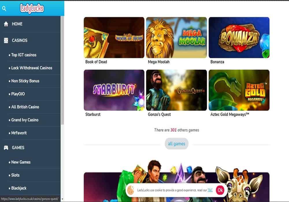 slotsmillion games page
