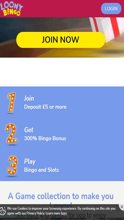 loony bingo pomo mobile