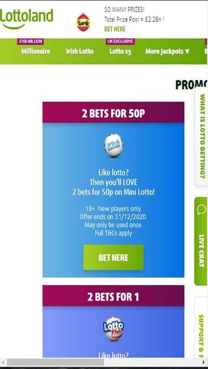lotto land promo mobile 1