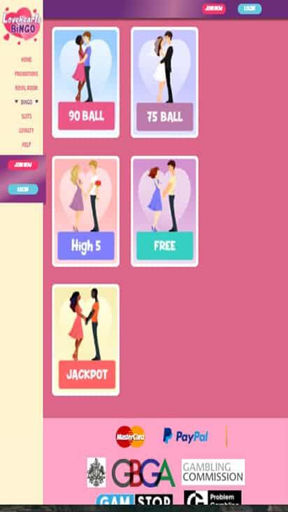 loveheartsbingo game mobile