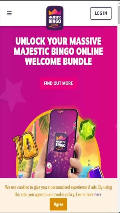 majestic bingo home mobie