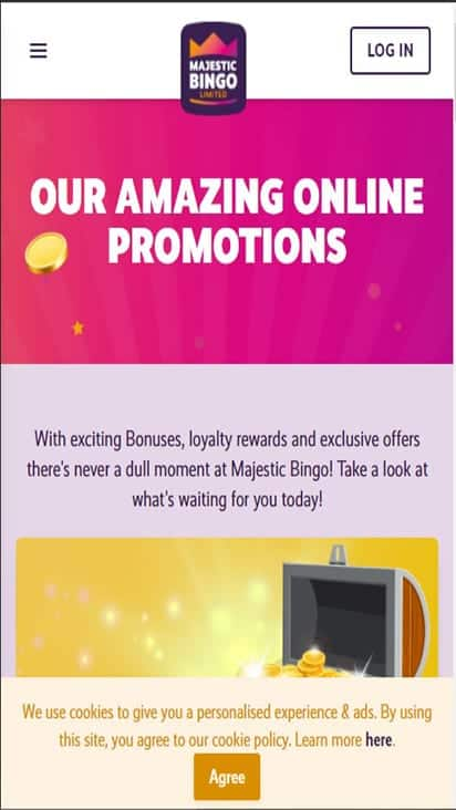 majestic bingo pomo mobile