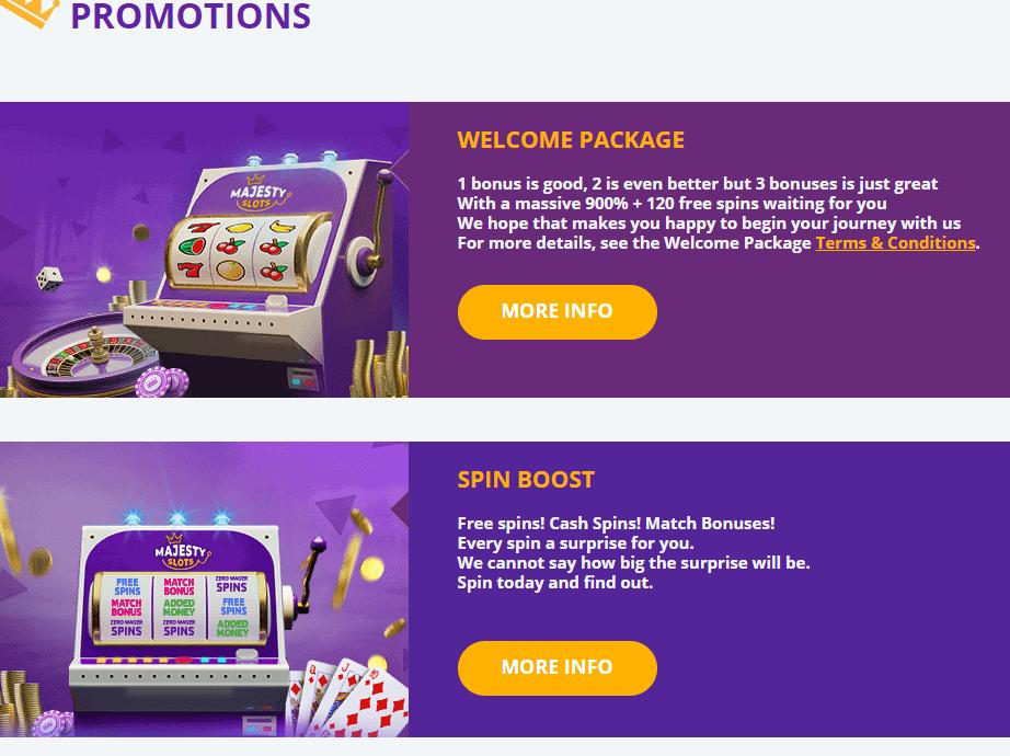 majesty slots promotions