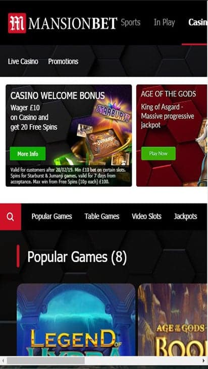 mansion bet game mobile