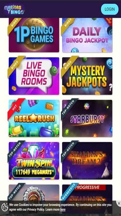 marinas bingo game mobile