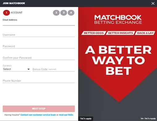 match book signup