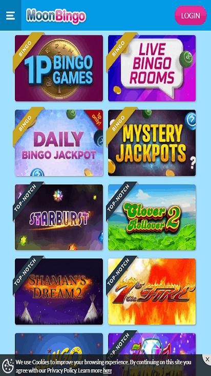 moon bingo game mobile