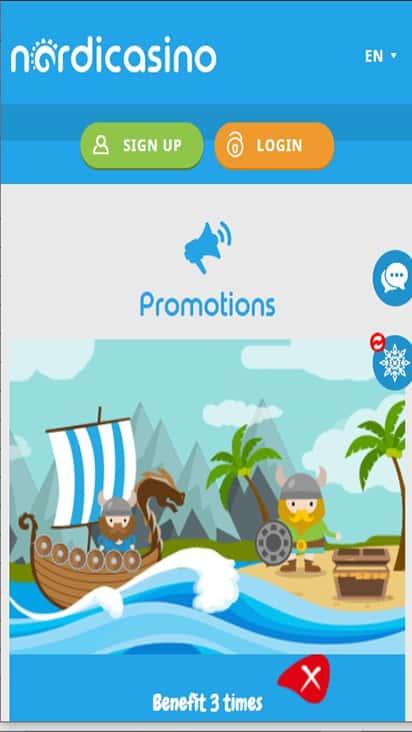 nordicasino promo mobile