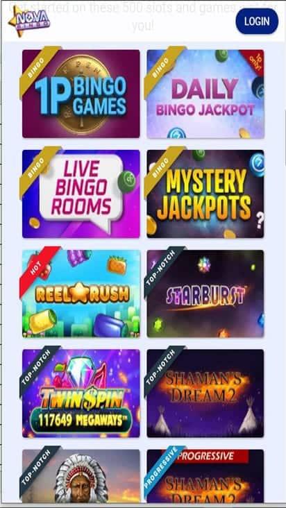 nova bingo game mobile