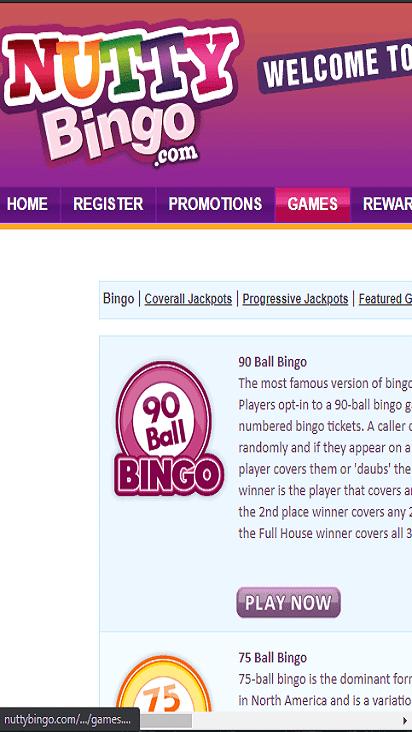 nutty bingo game mobile