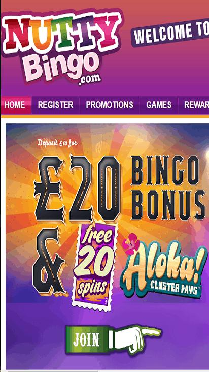 nutty bingo home mobile