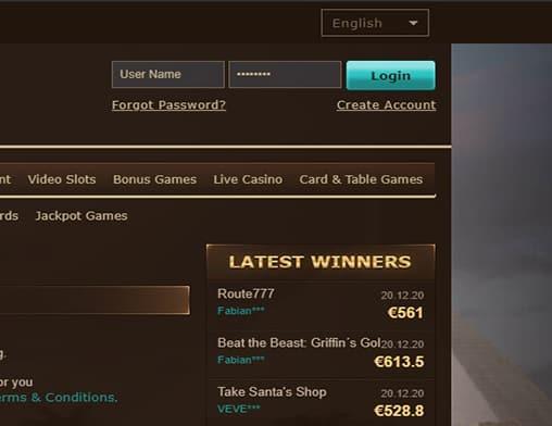 Draft Kings login page