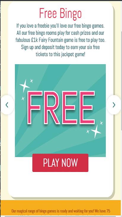 pixie bingo game mobile